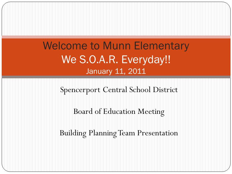 7:00 - 7:30 - Munn Building Plan Team presentation 1.The Munn Enrichment Chorus 2.
