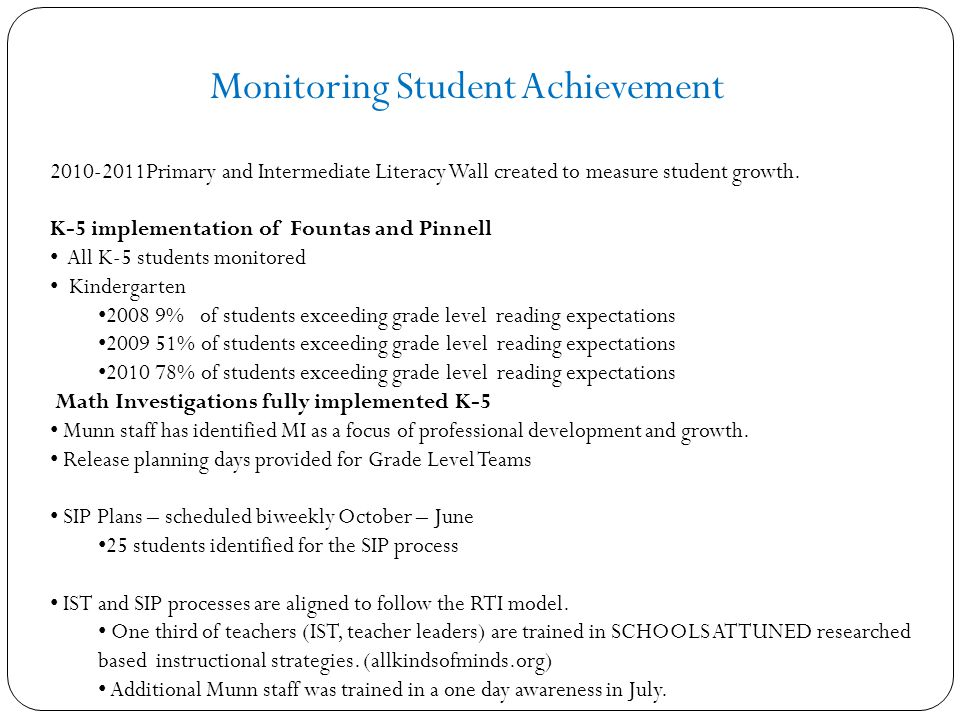 2010-2011Primary and Intermediate Literacy Wall created to measure student growth.