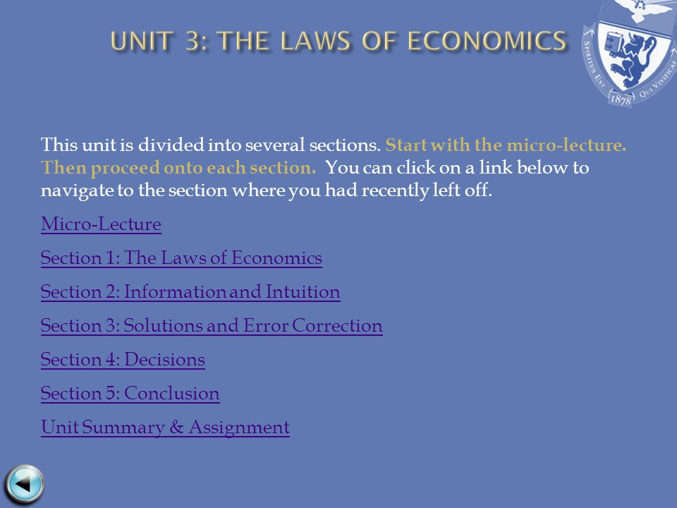 This unit is divided into several sections. Start with the micro-lecture. Then proceed onto each section. You can click on a link below to navigate to