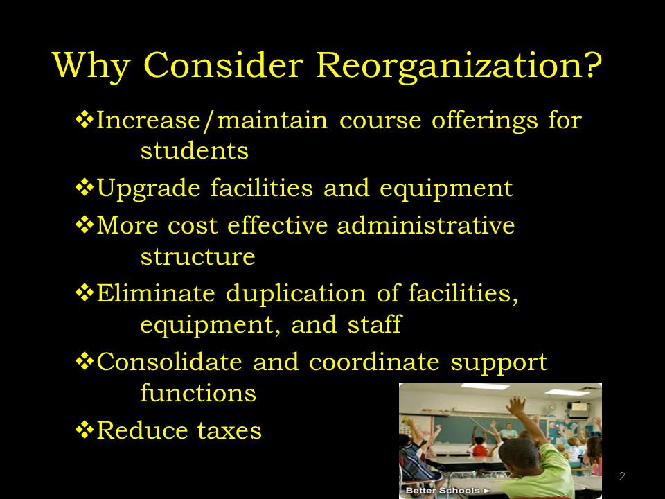 Why Consider Reorganization.