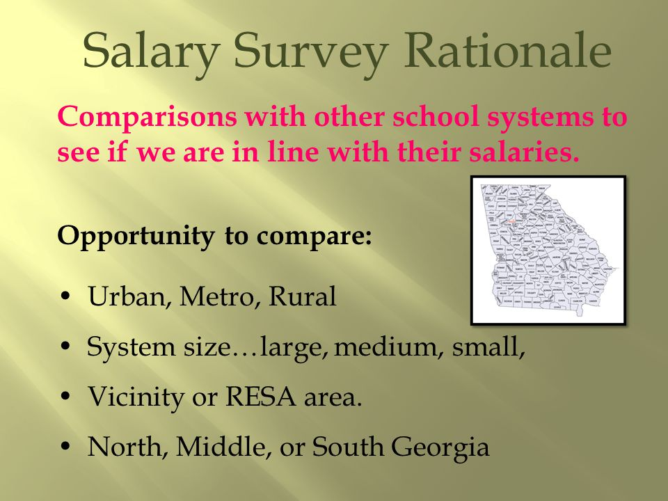 Just to have salaries on hand to reference is a good reason by itself.
