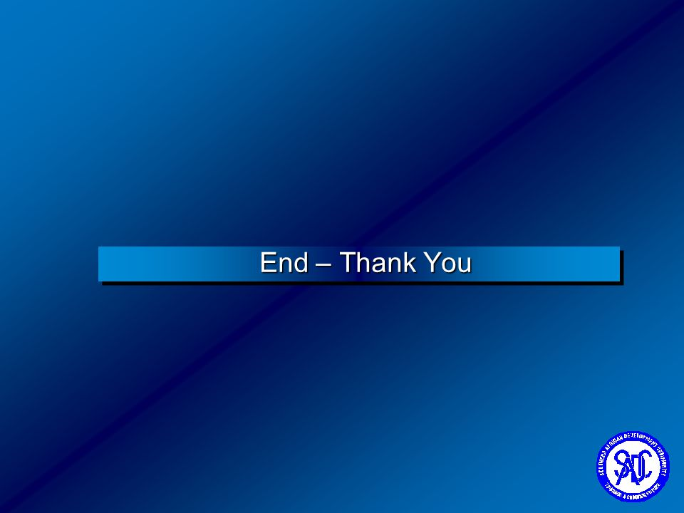 End – Thank You