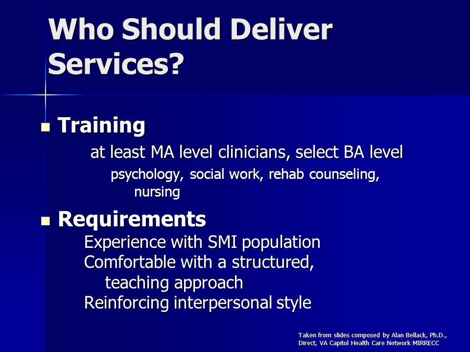 Who Should Deliver Services.