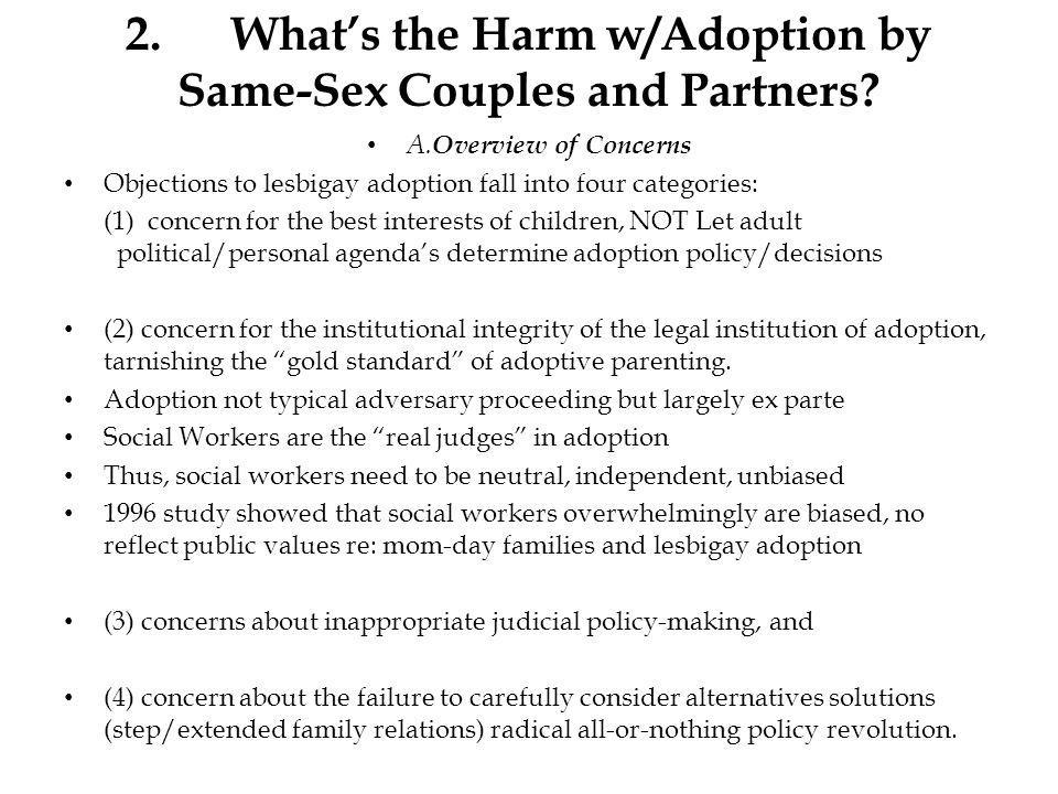 2.Whats the Harm w/Adoption by Same-Sex Couples and Partners.