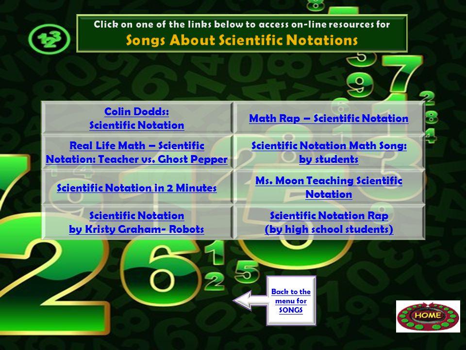 Colin Dodds: Scientific Notation Math Rap – Scientific Notation Real Life Math – Scientific Notation: Teacher vs. Ghost Pepper Scientific Notation Mat