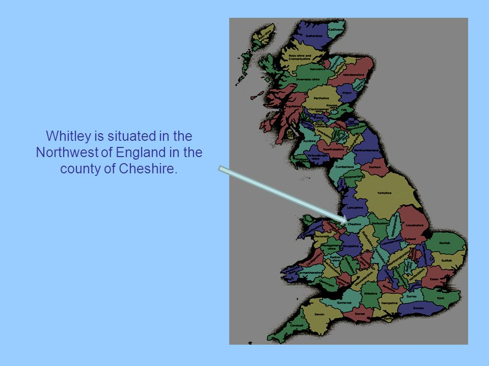 Whitley is situated in the Northwest of England in the county of Cheshire.