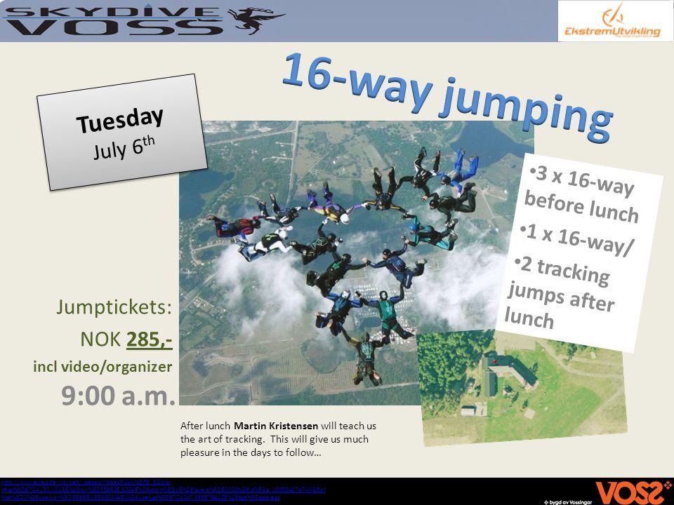 9:00 a.m. Tuesday July 6 th http://www.gulesider.no/kart/;jsessionid=ezRC4Mq3F8_5ZjWs- t#lat%3D6724130.10155%26lon%3D358628.32046%26zoom%3D15%26layers