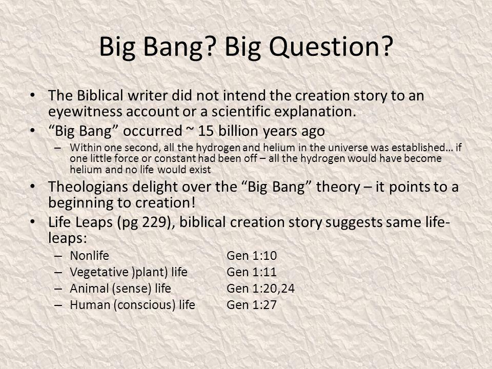 Big Bang.Big Question.