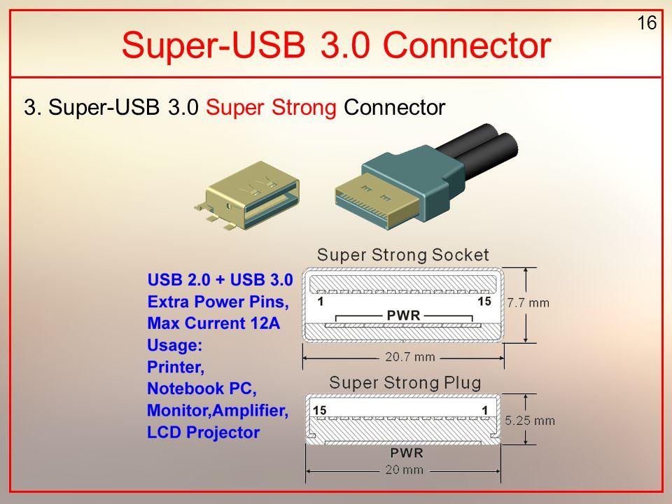 16 Super-USB 3.0 Connector 3. Super-USB 3.0 Super Strong Connector