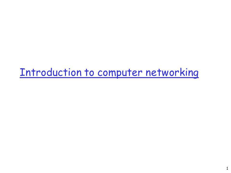 Introduction to computer networking 1
