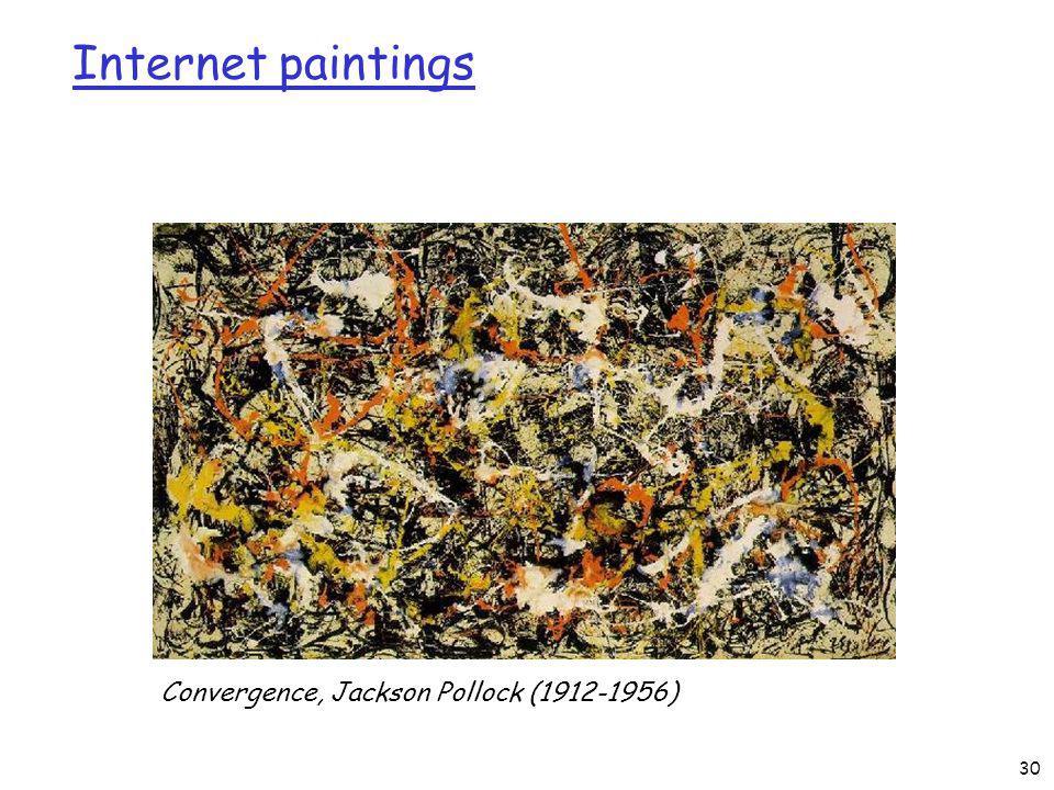Internet paintings Convergence, Jackson Pollock (1912-1956) 30