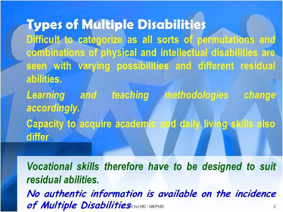Vocational Rehabilitation for Persons with Multiple Disabilities Presented by R.