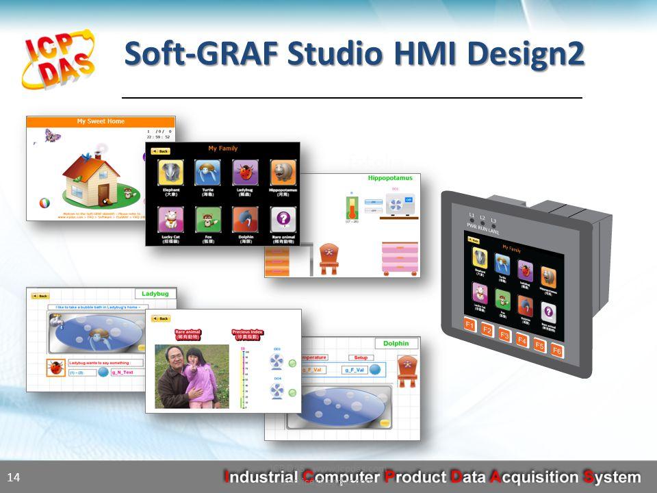 Soft-GRAF Studio HMI Design2 ICP DAS www.icpdas.com service@icpdas.com 14