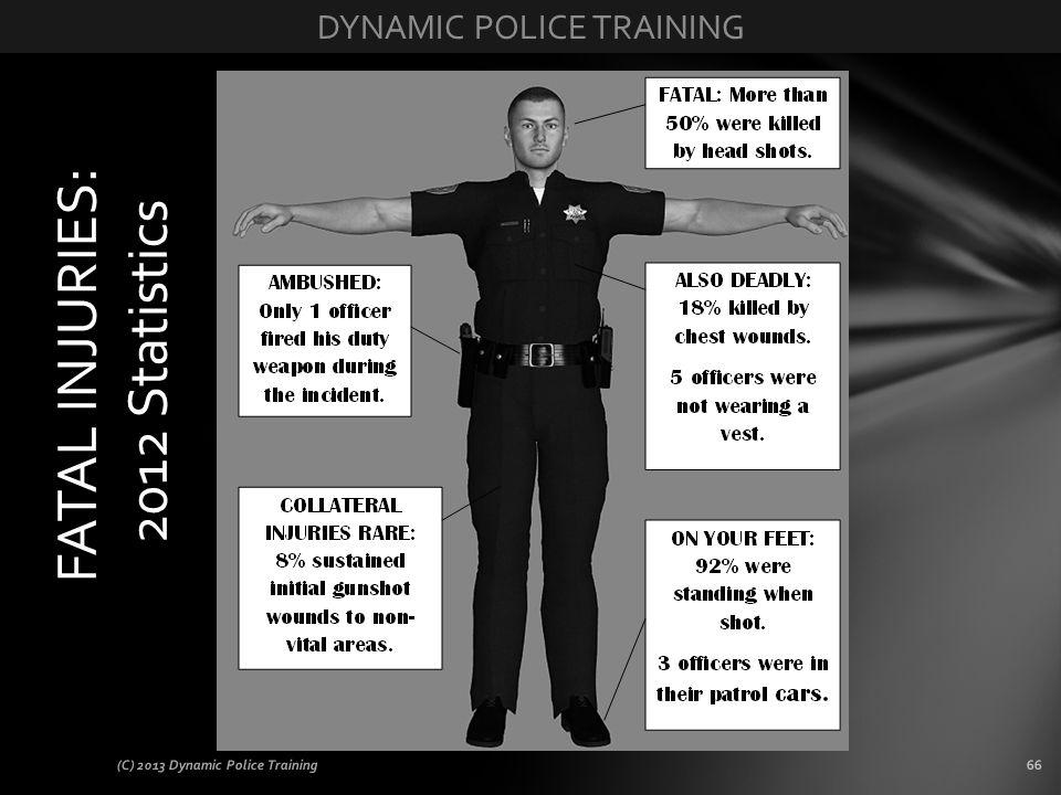 (C) 2013 Dynamic Police Training66 FATAL INJURIES: 2012 Statistics
