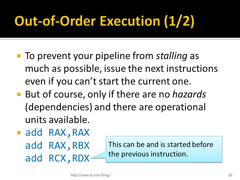 To prevent your pipeline from stalling as much as possible, issue the next instructions even if you cant start the current one. But of course, only if