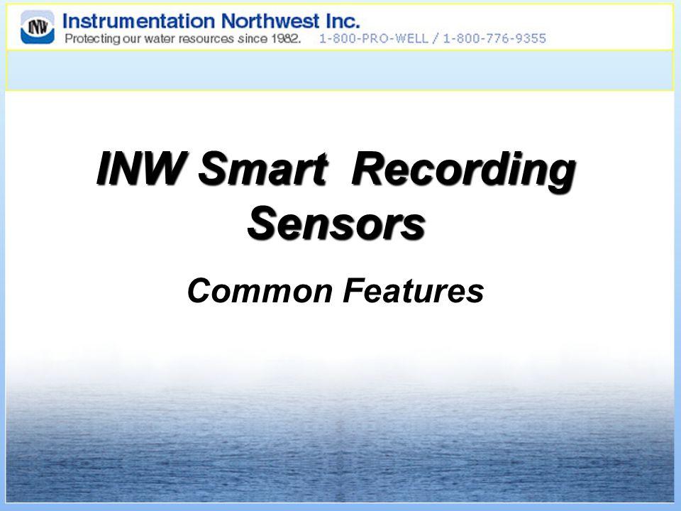 INW Smart Recording Sensors Common Features