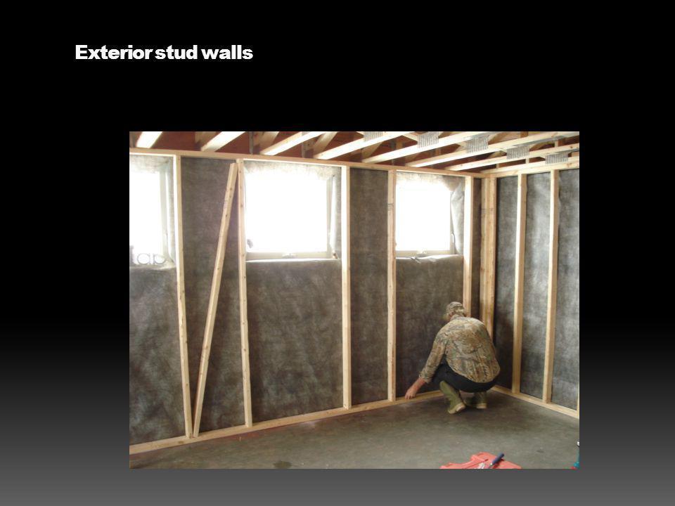 Exterior stud walls