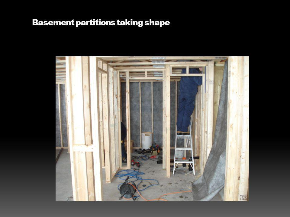 Basement partitions taking shape