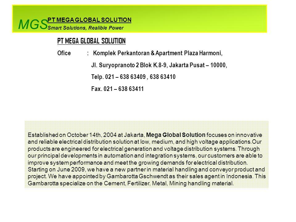 PT MEGA GLOBAL SOLUTION Ofice: Komplek Perkantoran & Apartment Plaza Harmoni, Jl.
