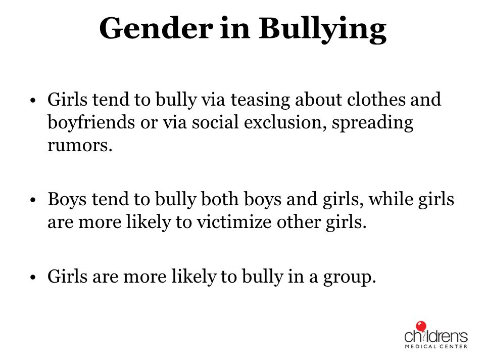 Children who are bullied perceive school as an unsafe place and are likely to miss more days of school than their peers, as a result their education is negatively affected.