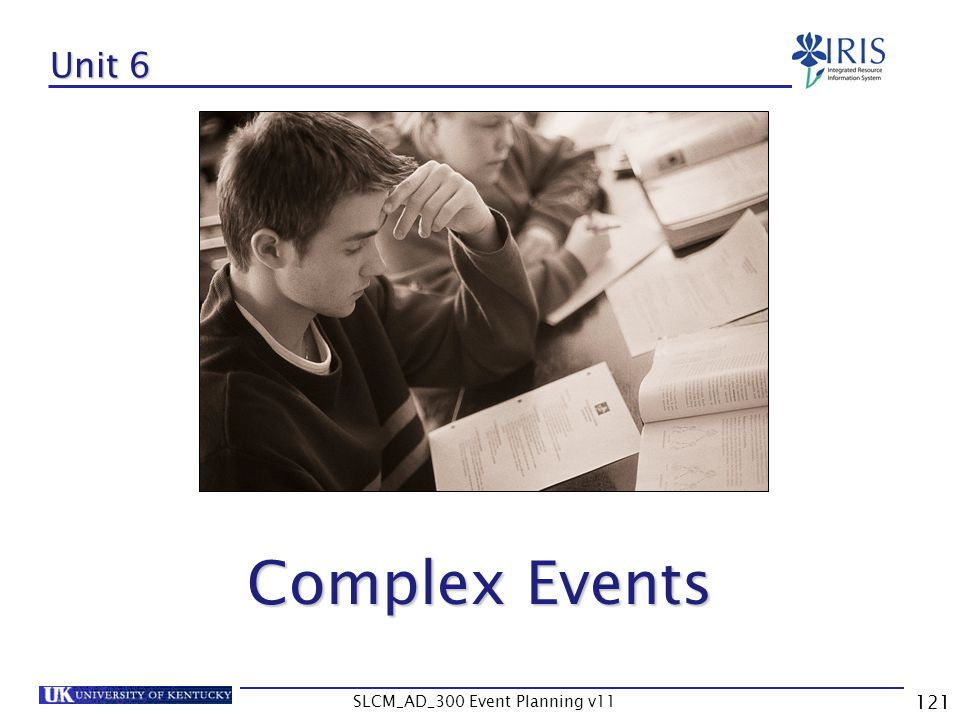 SLCM_AD_300 Event Planning v11 121 Unit 6 Complex Events