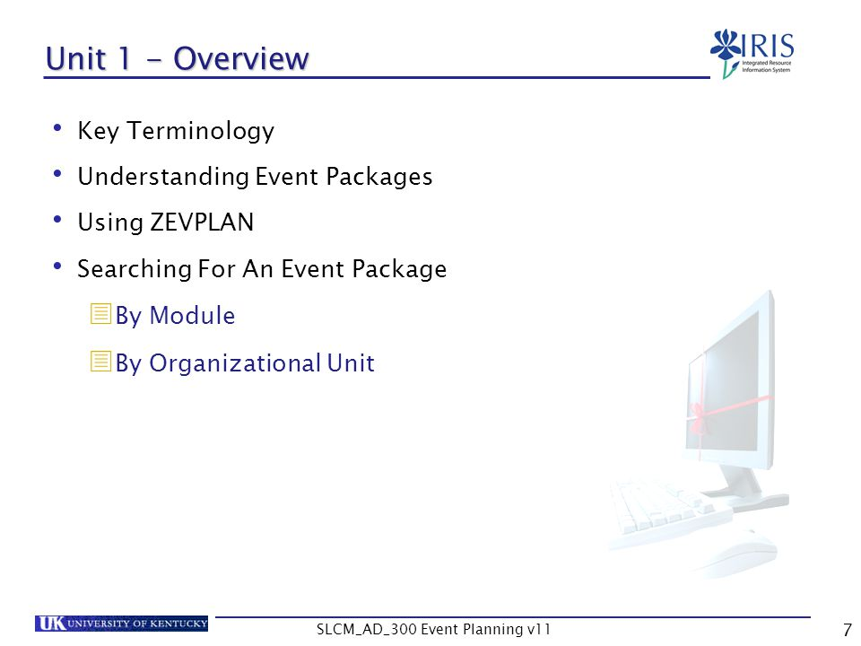 SLCM_AD_300 Event Planning v11 68 Exercise 2.1 & 2.2 Create a Single Event and Event Package