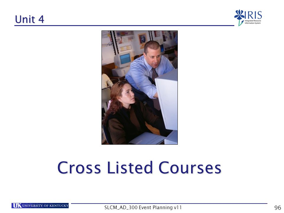 SLCM_AD_300 Event Planning v11 96 Unit 4 Cross Listed Courses