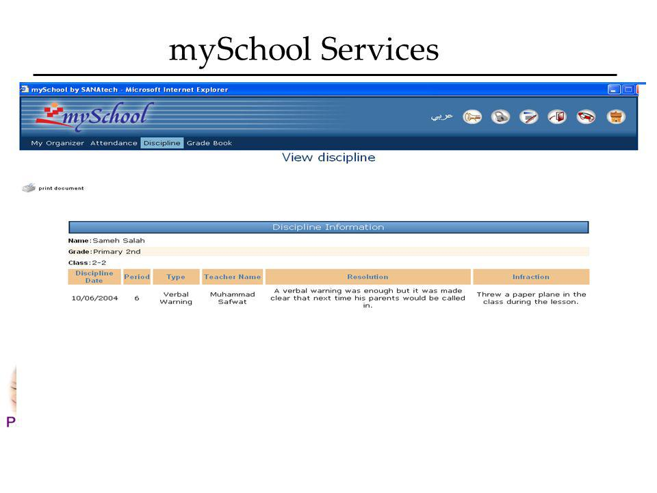 mySchool Services What is my childs attitude?