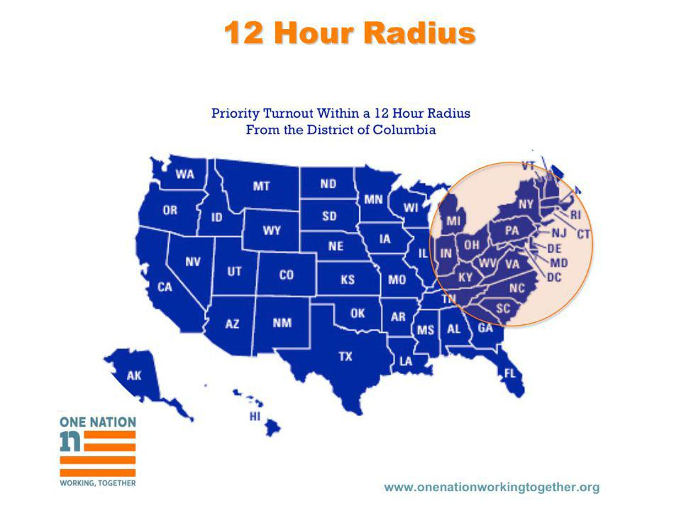 12 Hour Radius