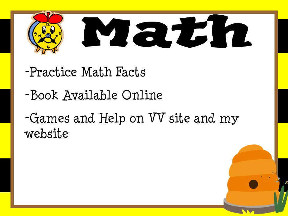 -Practice Math Facts - Book Available Online - Games and Help on VV site and my website