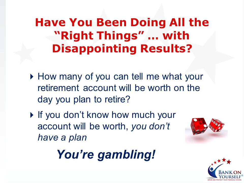 How many of you can tell me what your retirement account will be worth on the day you plan to retire? If you dont know how much your account will be w