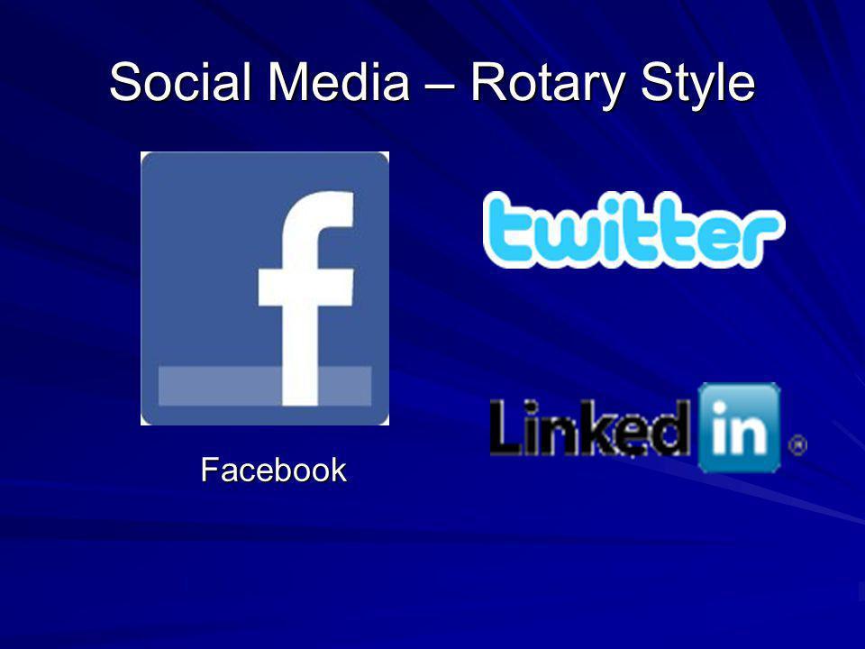 Social Media – Rotary Style Facebook