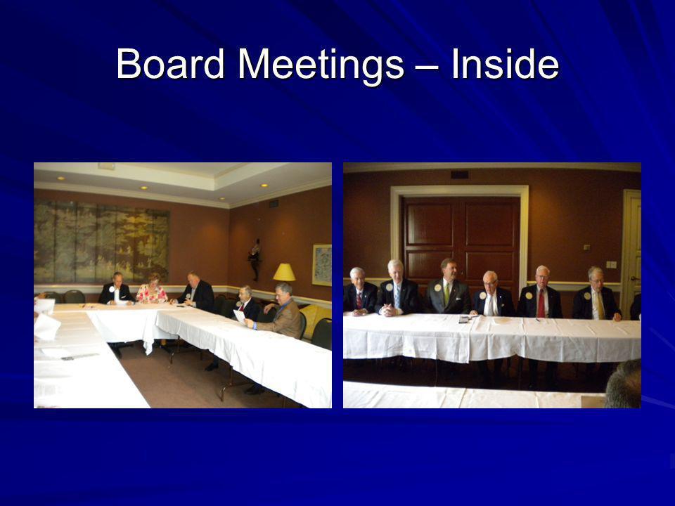 Board Meetings – Inside