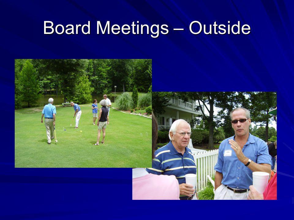 Board Meetings – Outside