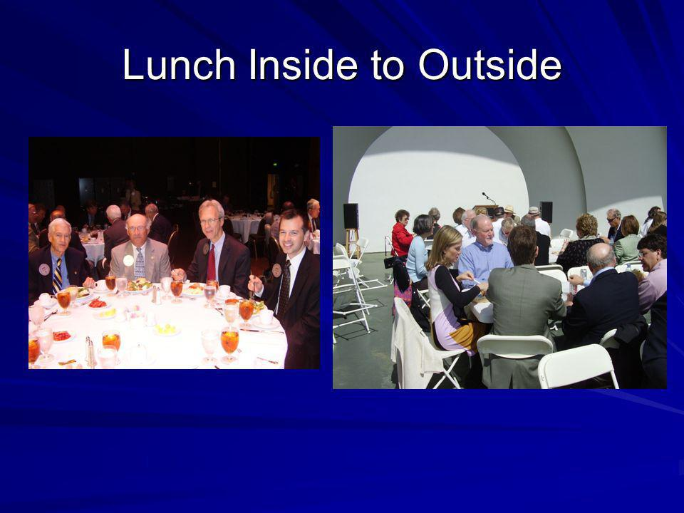 Lunch Inside to Outside