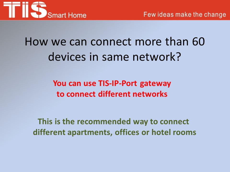 How we can connect more than 60 devices in same network.
