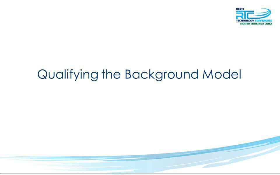 Qualifying the Background Model