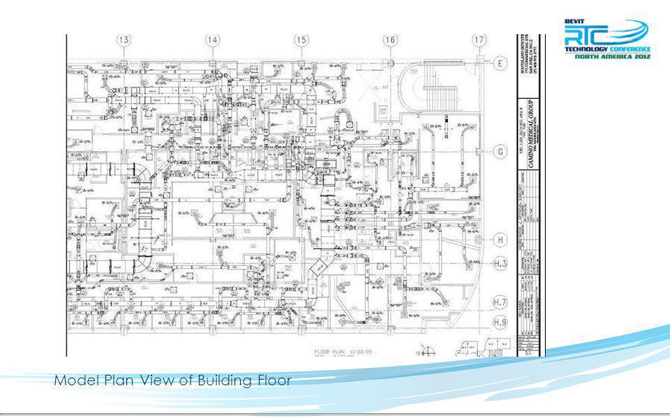 Model Plan View of Building Floor