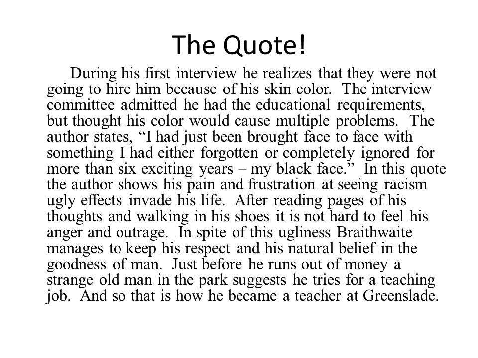 The Quote.