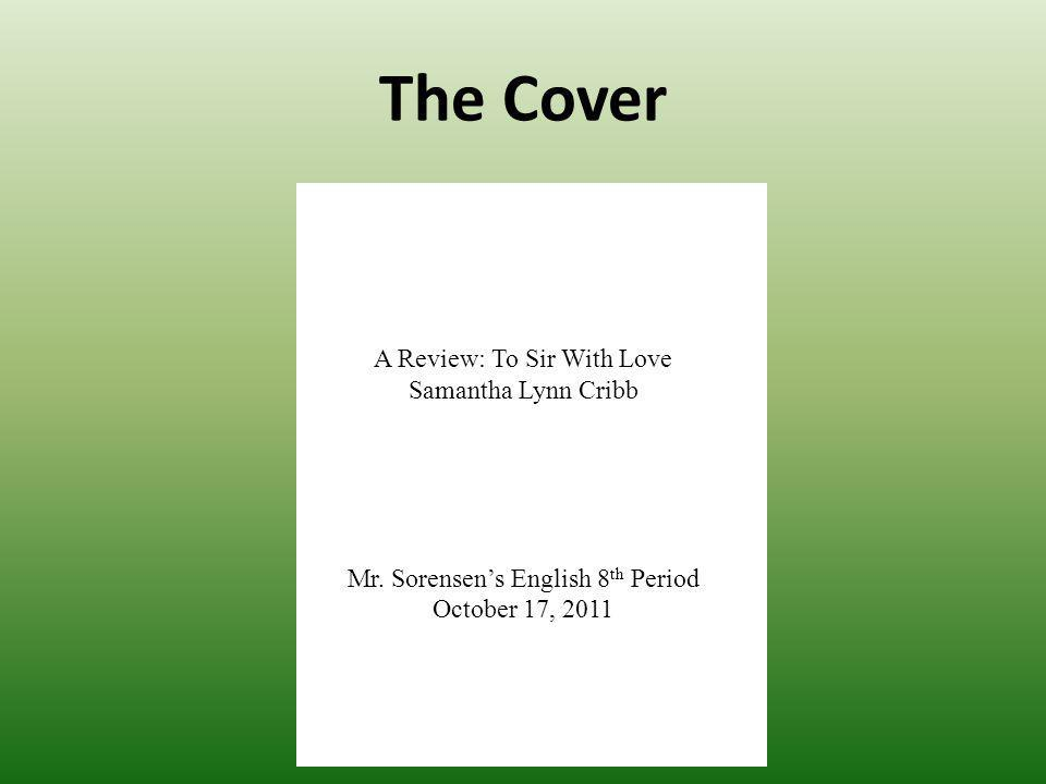 The Cover A Review: To Sir With Love Samantha Lynn Cribb Mr.