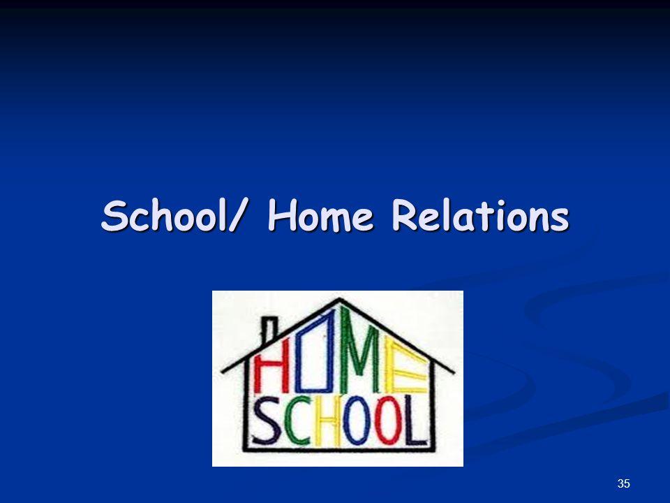 School/ Home Relations 35