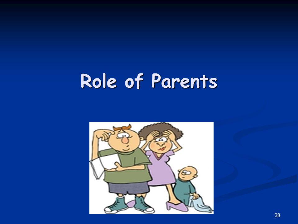 Role of Parents 38