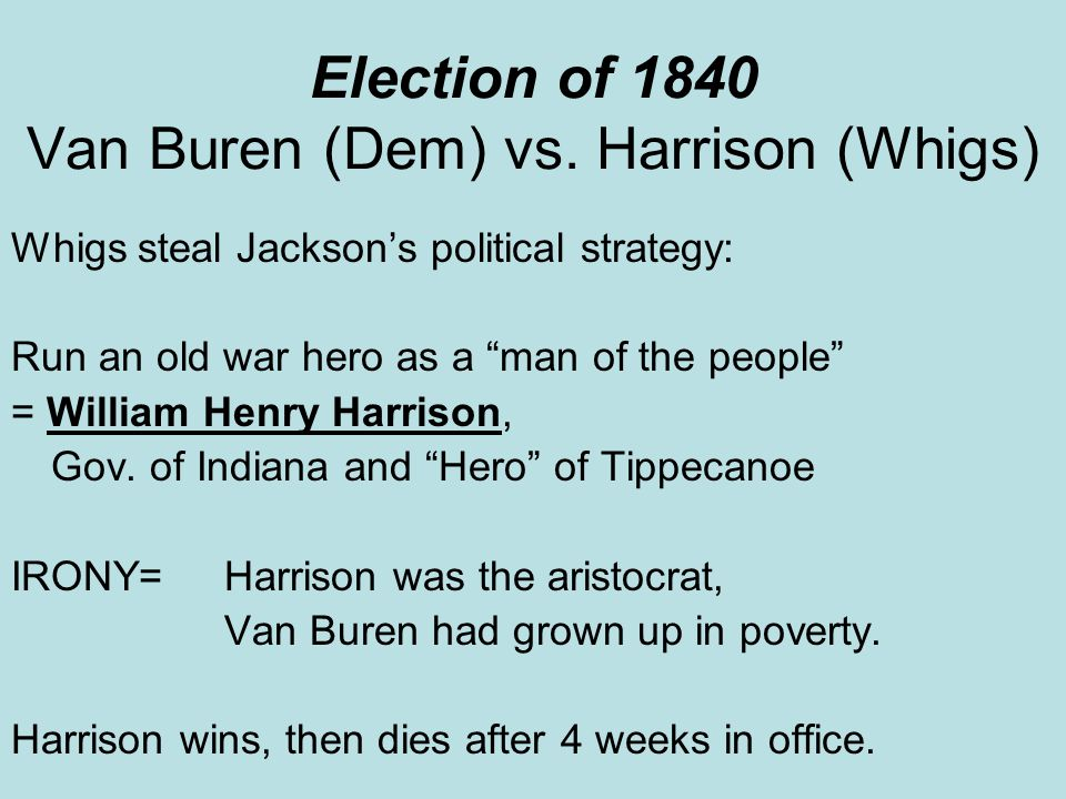 Complete Explanation:A crude satire on the obstacles facing Van Buren s reelection effort in 1840.