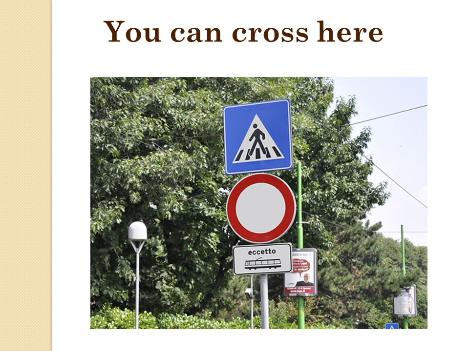 You can cross here