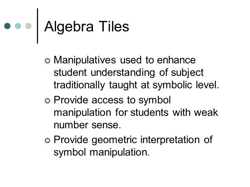 Lets Do Algebra Tiles