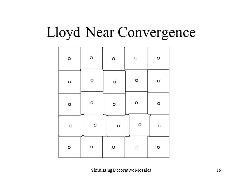 Simulating Decorative Mosaics19 Lloyd Near Convergence