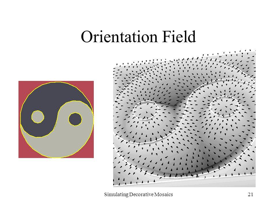 Simulating Decorative Mosaics21 Orientation Field
