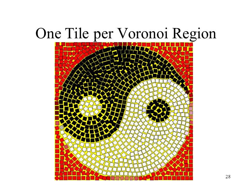 Simulating Decorative Mosaics28 One Tile per Voronoi Region