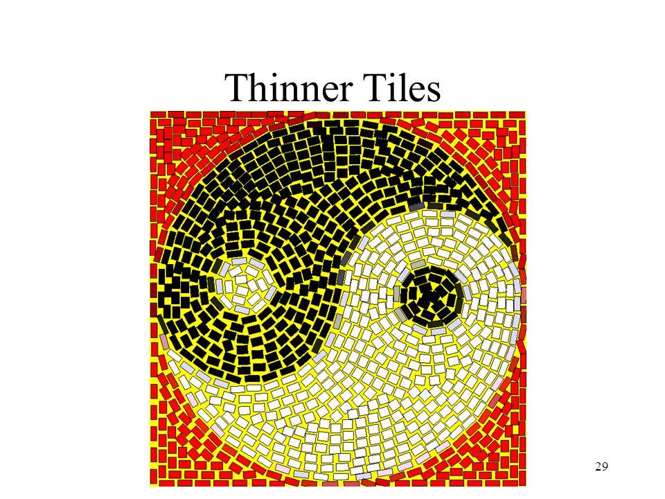 Simulating Decorative Mosaics29 Thinner Tiles
