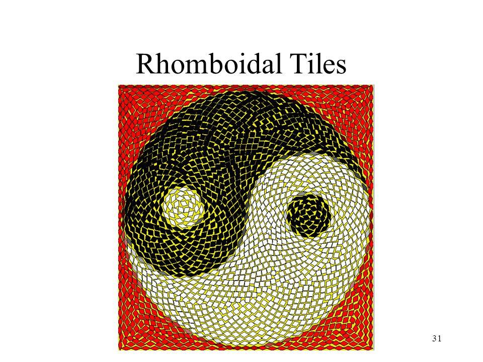 Simulating Decorative Mosaics31 Rhomboidal Tiles
